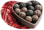 Valentine Truffles in a Chocolate Heart Box